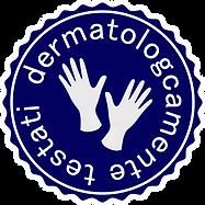 Logo guanti dermatologicamente testati.p