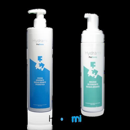 Crema idratante 400mL + Detergente mousse 200mL