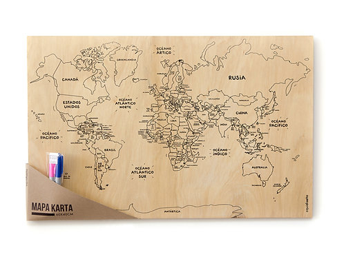 Mapa KARTA para colorear
