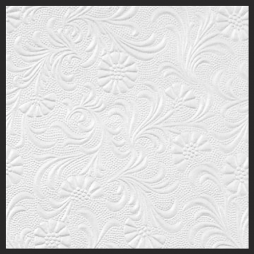 White Pearl Floral Embossed