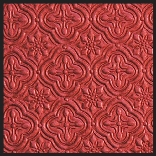 Red Tile Embossed