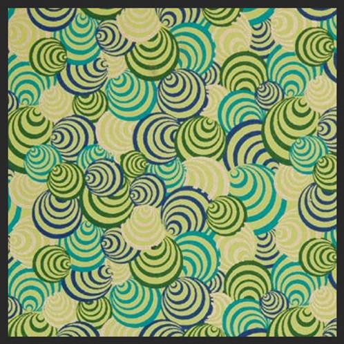Printed Green and Gold Circles