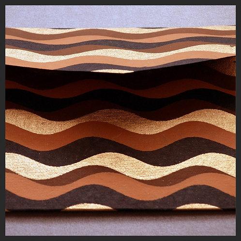 Brown/Gold Waves Envelopes (8 per pkg)
