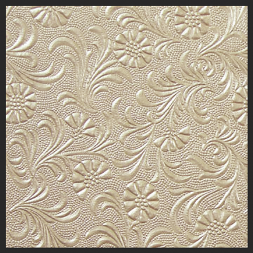 Taupe Pearl Floral Embossed