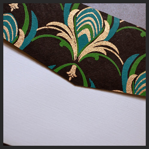 Turquoise/Gold Designer Accented Envelopes