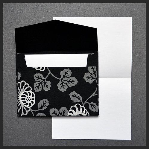 Black Floral Vine Envelope Love Notes (8 per pkg)