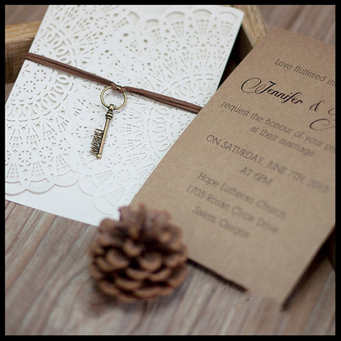 Dream Laser Cut Invitation