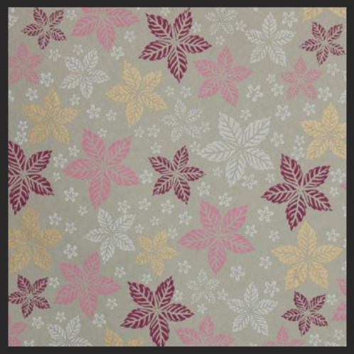 Printed Pink and Gold Leaf Floral