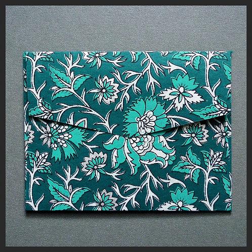 Turquoise/Silver Decor Envelopes (8 per pk
