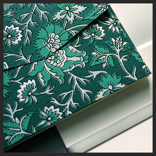 Turquoise/Silver Decor Envelope Love Notes (8