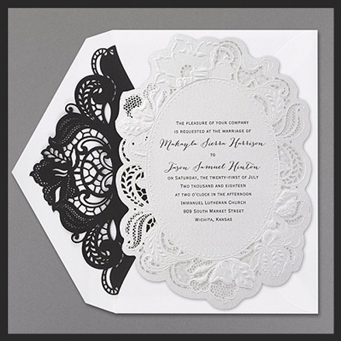 White and Black Laser cut