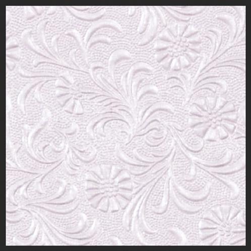 Lavendar Pearl Floral Embossed
