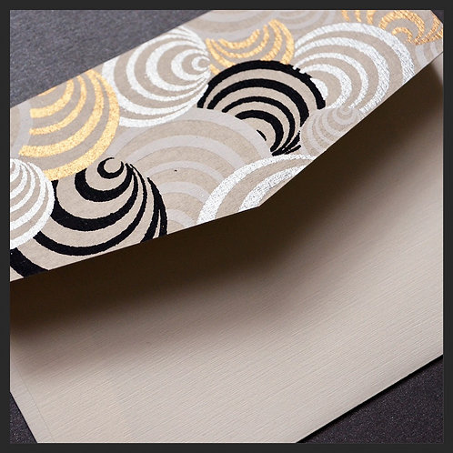 White/Gold Circles Accented Envelopes (8 per pkg)