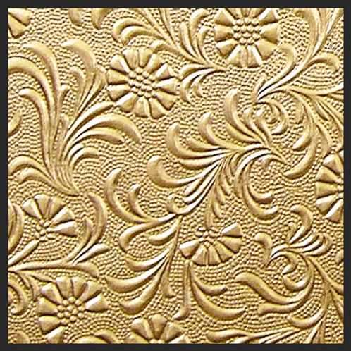 Gold Floral Embossed
