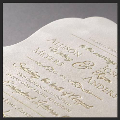 Plush Suede Invitation