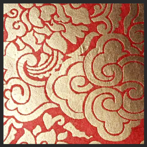 Red and Gold Pema Tingba Print
