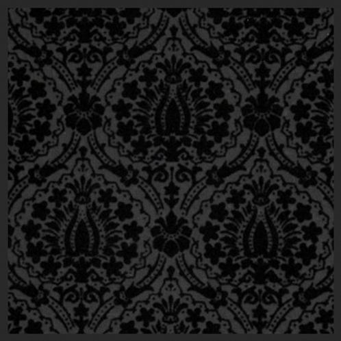 Lotus Black Damask