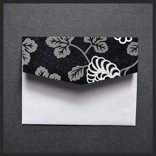 Black Floral Vine Accented Envelopes (8 per pkg)