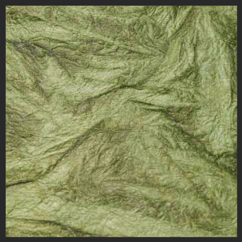 Olive Green Leather Wrinkle