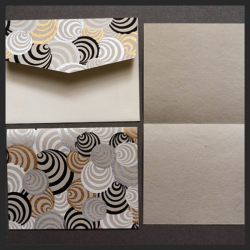 White/Gold Circle Accented Love Notes (8 per pkg)