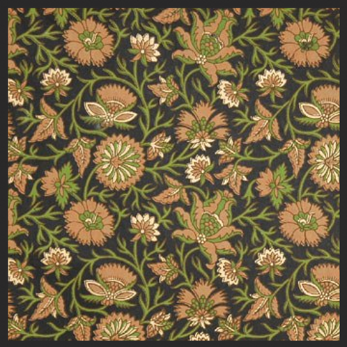 Printed Brown and Green Decor