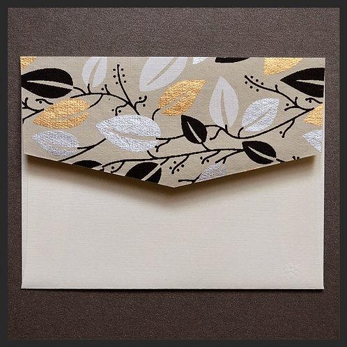 Gold Leaf Vine Accented Envelopes (8 per pkg)