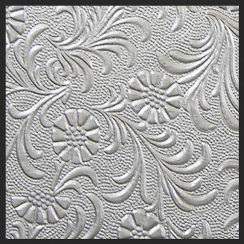 Silver Floral Embossed
