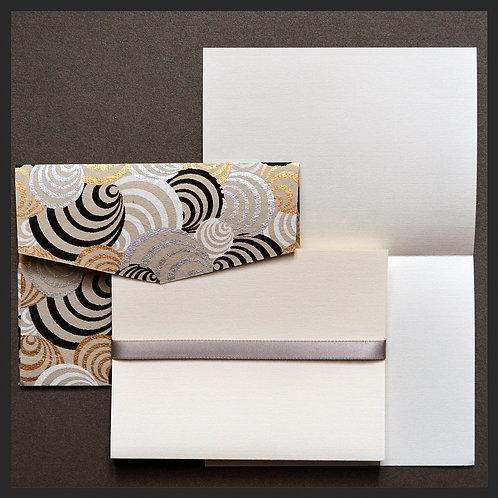 White/Gold Circle Envelope Love Notes (8 per pkg)