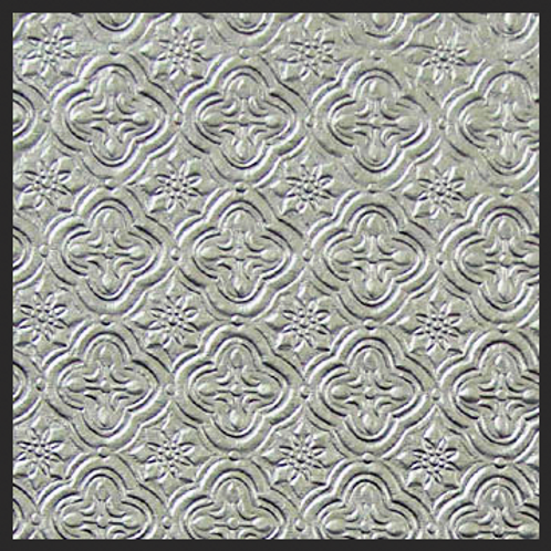 Silver Tile Embossed