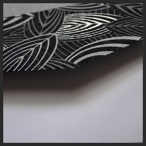 Black and White Leaf Accented Envelopes