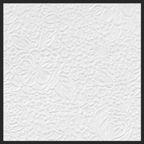 Pure White Shimmer Floral Garden