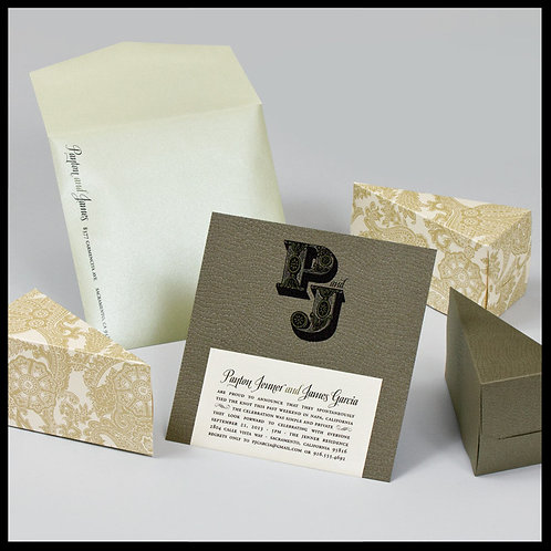 Modern Wedding Invitation Montreal