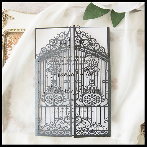Elegant Gates Laser Cut Invitation