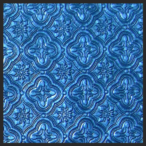 Dark Blue Tile Embossed