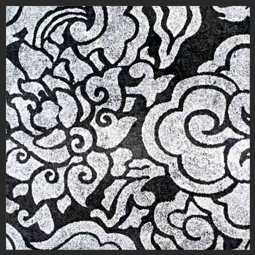 Black and Silver Pema Tingba Print