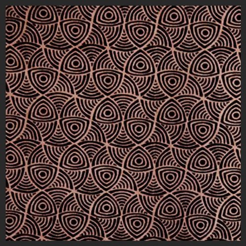 Abstract Swirl Brown