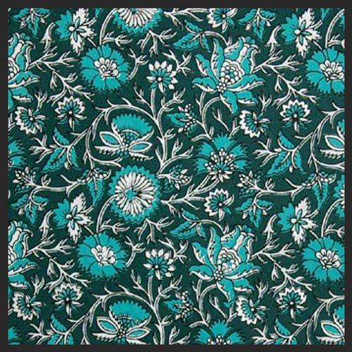 Printed Dark Green and Turquoise Decor