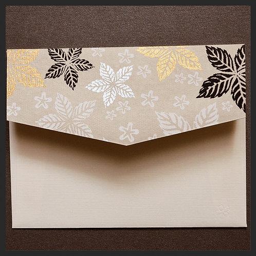 Gold Leaf Floral Accented Envelopes (8 per pkg)