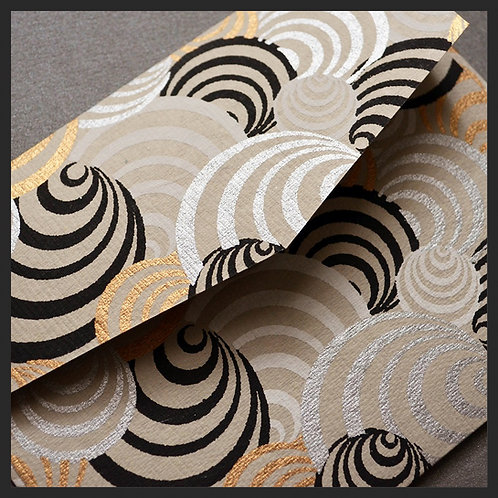 White/Gold Circles Envelopes (8 per pkg)
