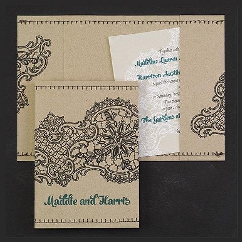 Unique wedding invitation Montreal
