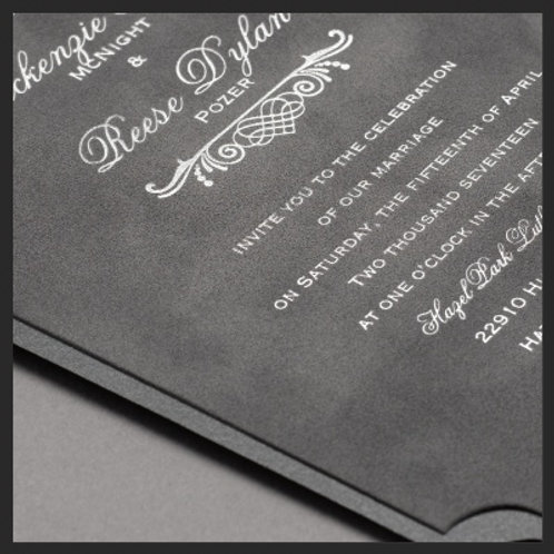Velvet Wedding Invitation Montreal