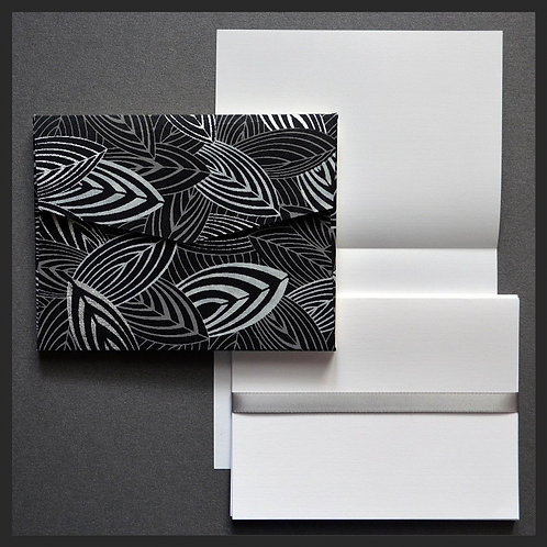 Black/White Leaf Envelope Love Notes