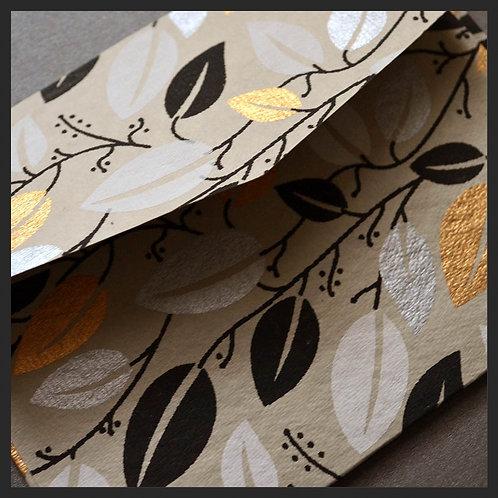 Gold Leaf Vine Envelopes (8 per pkg)