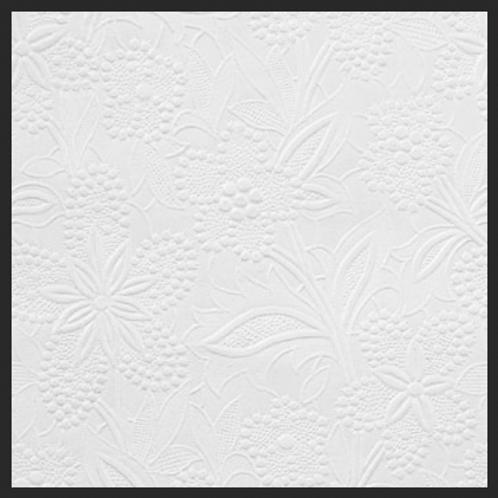 Pure White Shimmer Fantasy Garden