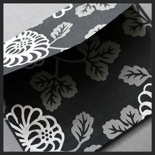 Black Floral Vine Envelopes (8 per pkg)