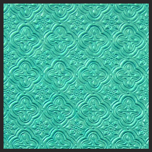 Turquoise Tile Embossed