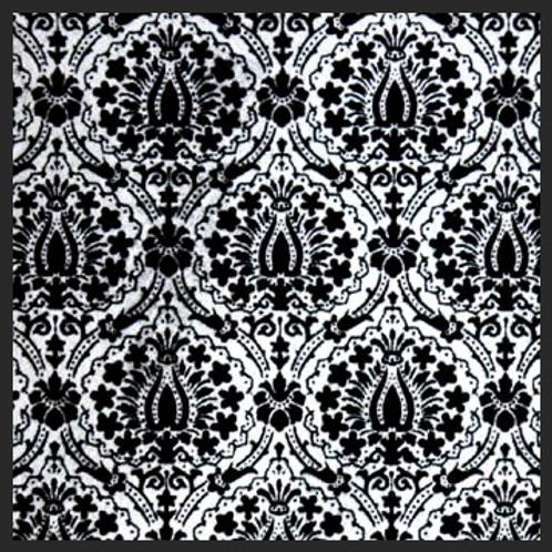Lotus Silver Damask