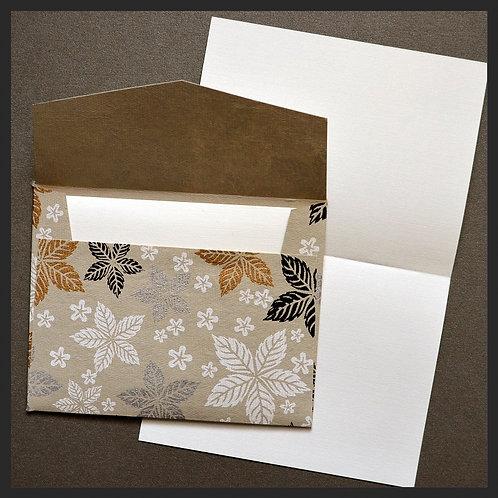 Gold Leaf Floral Envelope Love Notes (8 per pkg)