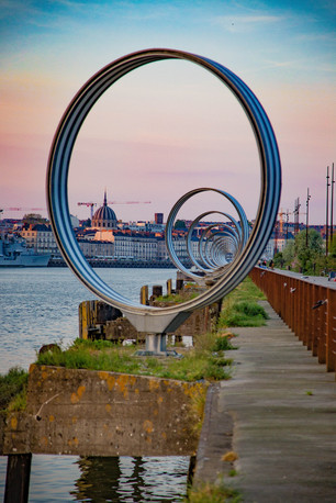 "Les Anneaux ""The Rings"" at sunset 