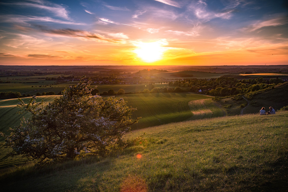 Dunstable Downs, England at Sunset